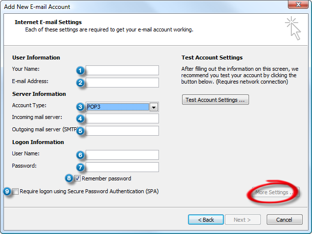 How To Configure Outlook's Incoming And Outgoing Server Settings For Hotmail
