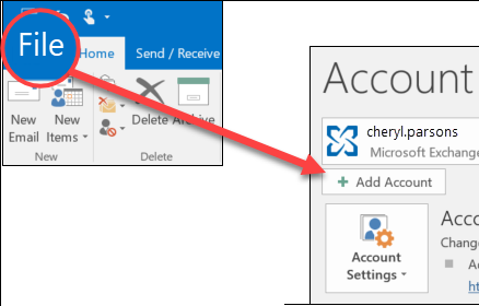 How to Configure the Microsoft Outlook Email Account