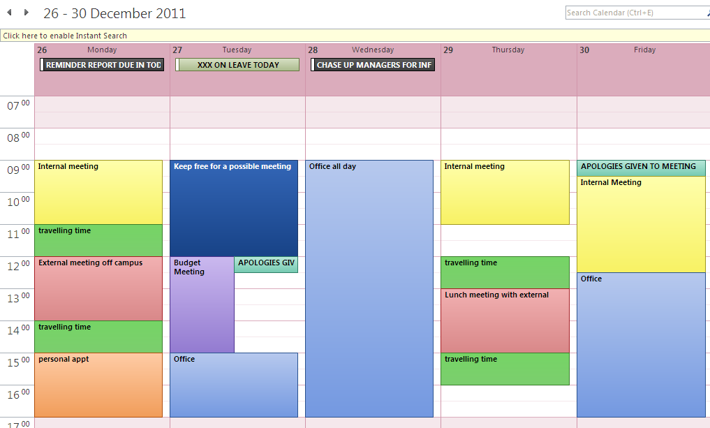 Making Use Of The Outlook Diary