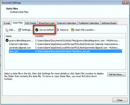 Steps To Change The Default Download Location For Outlook