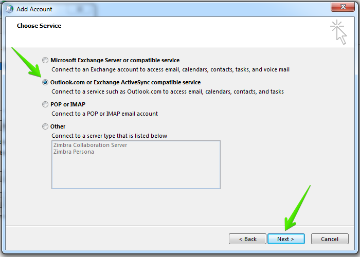 Sync Outlook Email Using ActiveSync