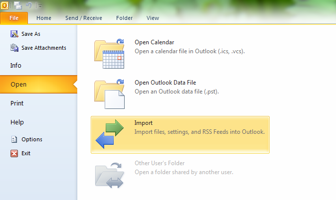 Tips For Importing Outlook 2002 Settings To Outlook 2007